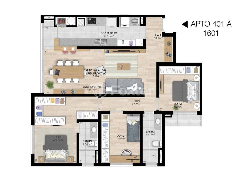 Foxter Imobiliária - Apto 3 Dorm, Centro, Esteio - Foto 5
