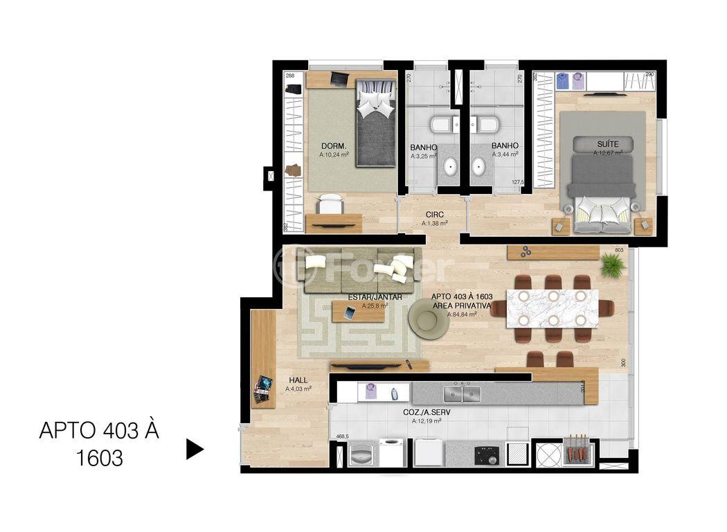 Foxter Imobiliária - Apto 3 Dorm, Centro, Esteio - Foto 3