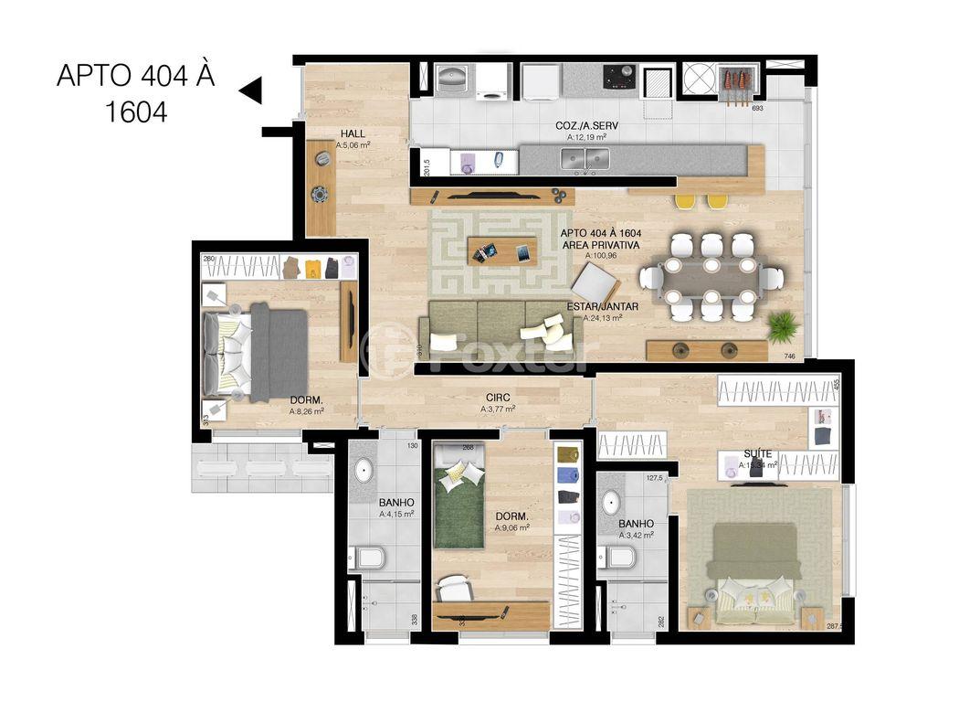 Foxter Imobiliária - Apto 3 Dorm, Centro, Esteio - Foto 4