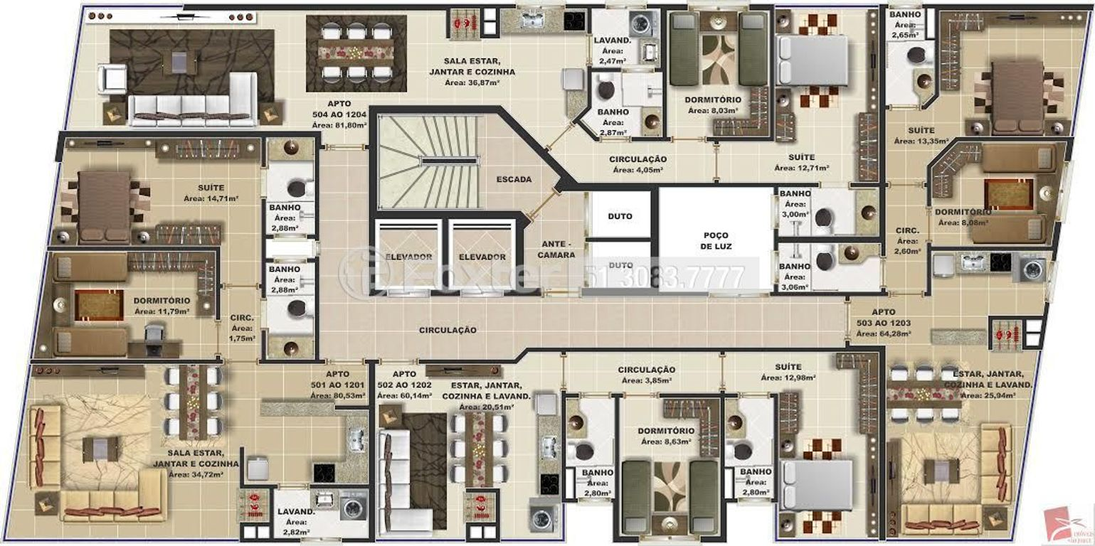 Foxter Imobiliária - Apto 2 Dorm, Centro (139800) - Foto 2