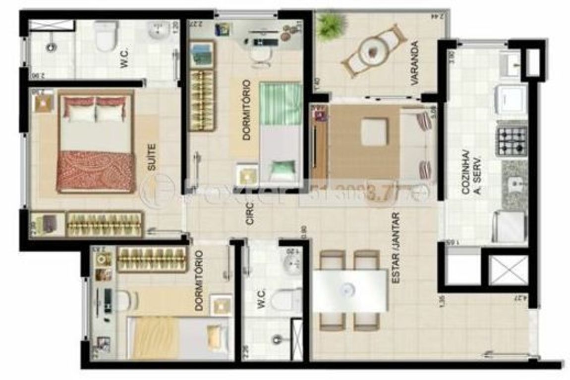 Foxter Imobiliária - Apto 3 Dorm, Humaitá (122035) - Foto 32