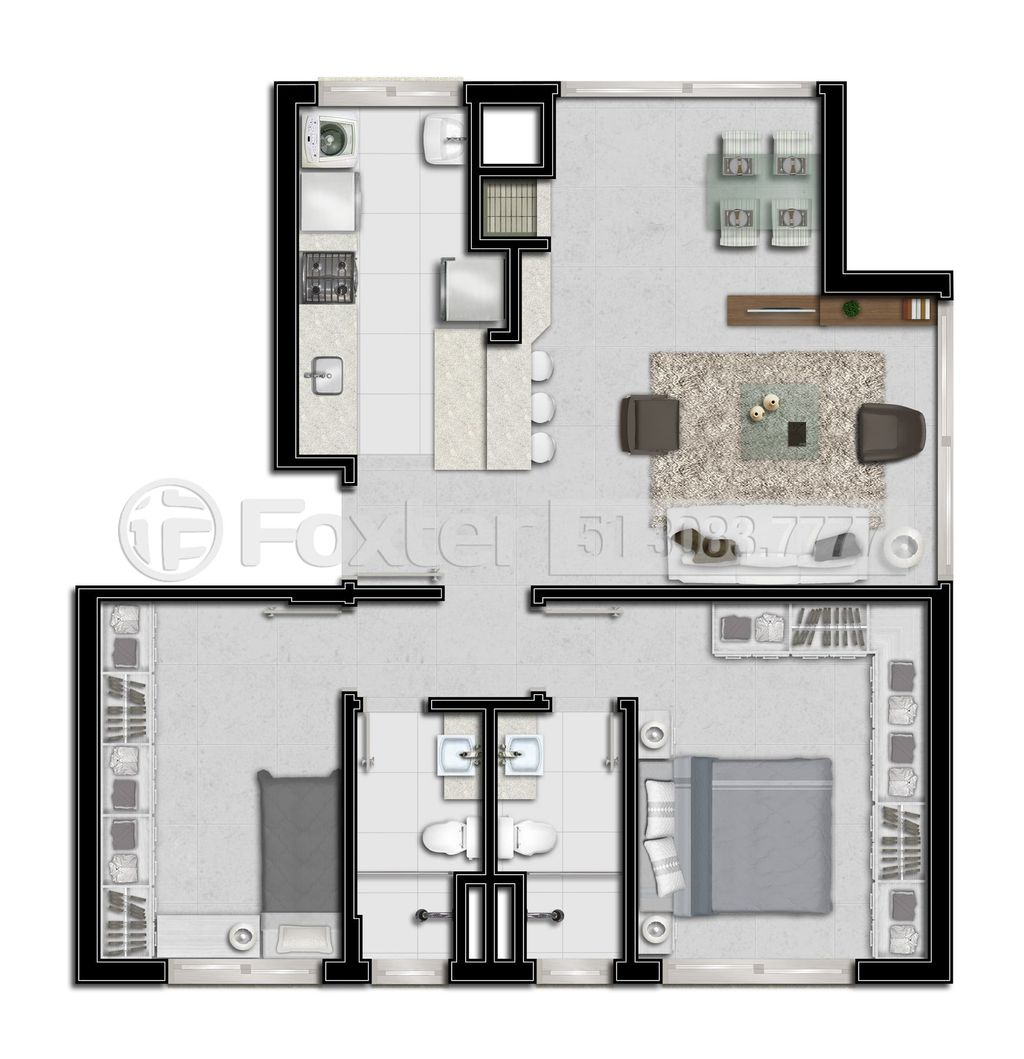 Foxter Imobiliária - Apto 2 Dorm, Azenha (136434) - Foto 10
