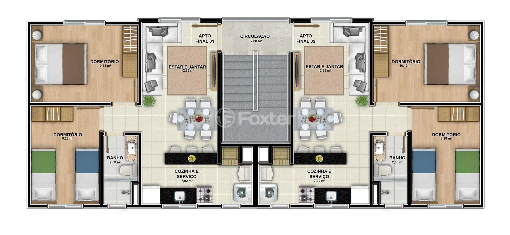Foxter Imobiliária - Apto 2 Dorm, Olaria, Canoas - Foto 3