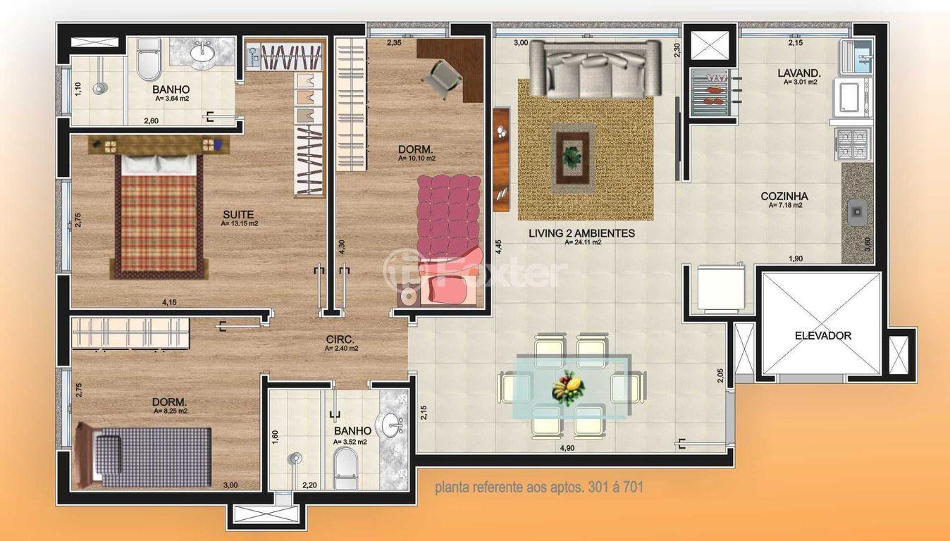 Foxter Imobiliária - Apto 3 Dorm, Vila Ipiranga - Foto 3