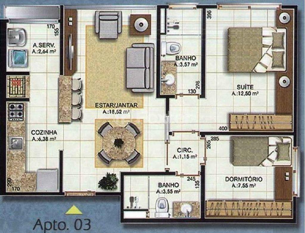 Apto 2 Dorm, Centro, Canoas (145076) - Foto 18