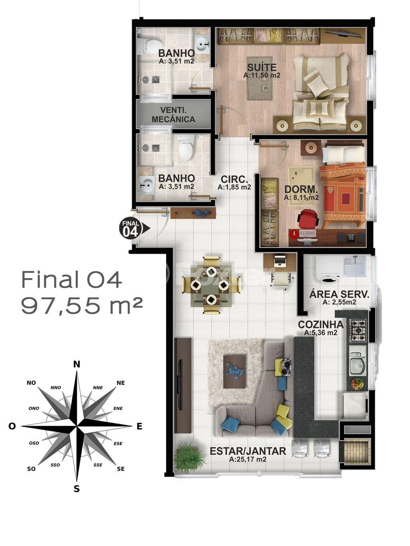 Foxter Imobiliária - Apto 2 Dorm, Centro (145844) - Foto 15